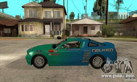 Ford Mustang GT Falken for GTA San Andreas left view