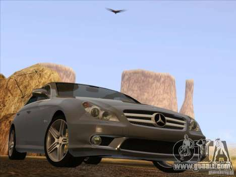 Mercedes-Benz CLS63 AMG for GTA San Andreas back view