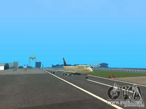 Boeing 747-400 Delta Airlines for GTA San Andreas left view