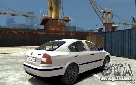 Skoda Octavia II 2005 for GTA 4 right view