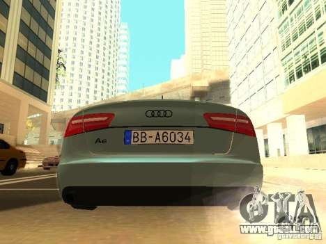 Audi A6 Stanced for GTA San Andreas right view