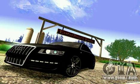 Audi A6 Blackstar for GTA San Andreas