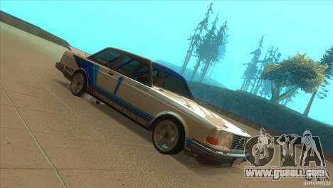 Volvo 240 Turbo Group A for GTA San Andreas back view
