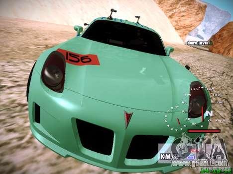 Pontiac Solstice Falken Tire for GTA San Andreas bottom view