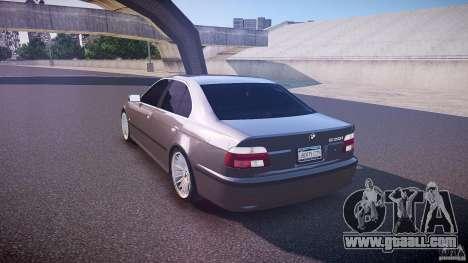BMW 530I E39 stock white wheels for GTA 4 back left view