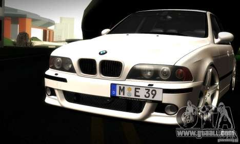 BMW M5 E39 for GTA San Andreas bottom view