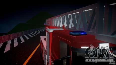 Scania Fire Ladder v1.1 Emerglights blue [ELS] for GTA 4 upper view