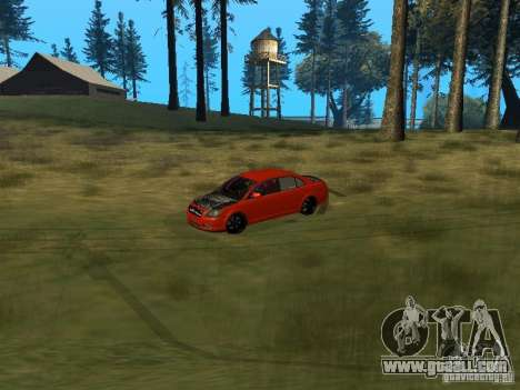 Toyota Avensis TRD Tuning for GTA San Andreas inner view