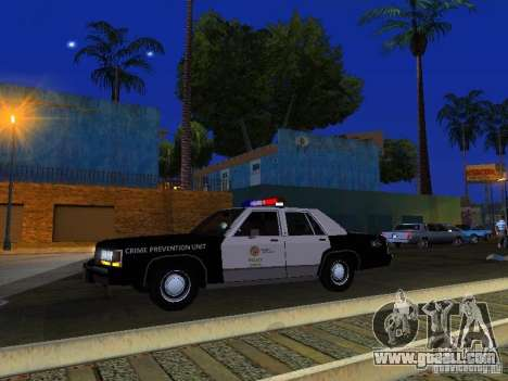 Ford Crown Victoria LTD 1992 LSPD for GTA San Andreas upper view