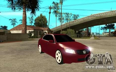 Honda Accord 2008 v2 for GTA San Andreas back view
