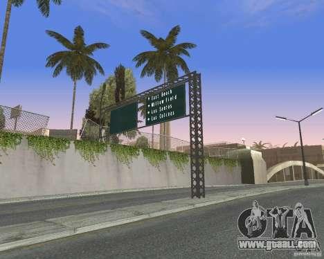 Road signs v1.0 for GTA San Andreas