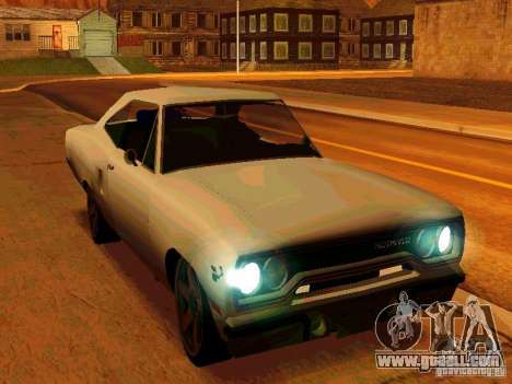 Plymouth Road Runner 426 HEMI 1970 for GTA San Andreas