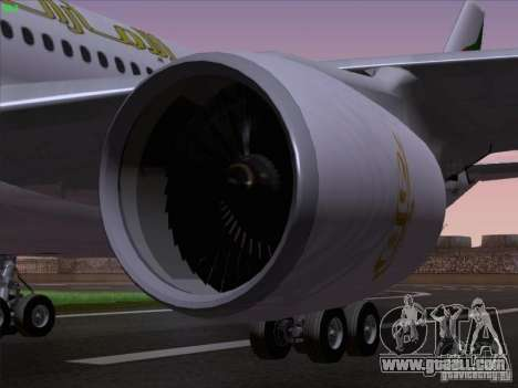 Airbus A330-200 Emirates for GTA San Andreas side view