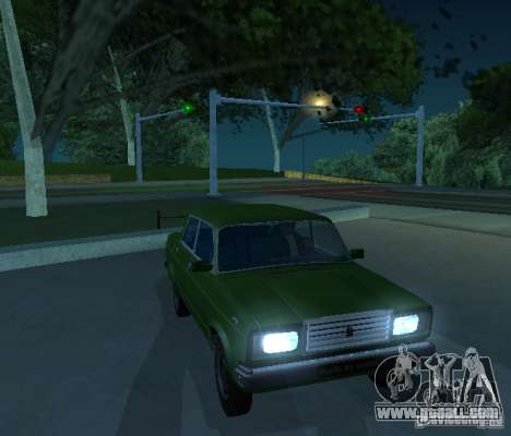 Vaz 2107 Allows for GTA San Andreas left view