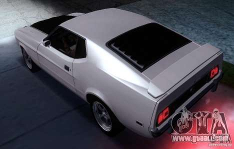 Ford Mustang Mach1 1973 for GTA San Andreas left view