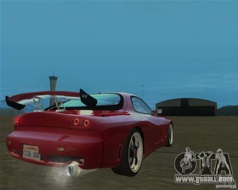 Mazda RX-7 weapon war for GTA San Andreas left view