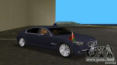 BMW 750 Li for GTA Vice City inner view