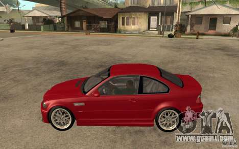 BMW M3 CSL for GTA San Andreas left view