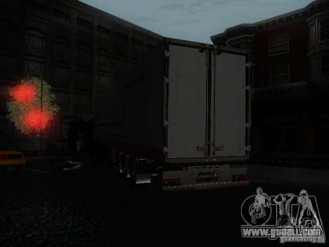 Trailer reefer for GTA San Andreas back left view
