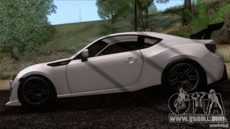Scion FR-S 2013 for GTA San Andreas back left view