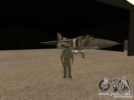 Mikoyan-Gurevich Mig-23 for GTA San Andreas inner view