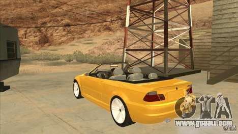 BMW E46 M3 Cabrio for GTA San Andreas back left view