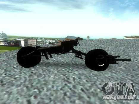 Batpod for GTA San Andreas left view