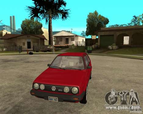 Volkswagen Golf Mk.II for GTA San Andreas back view