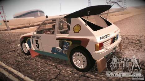 Peugeot 205 T16 for GTA San Andreas right view