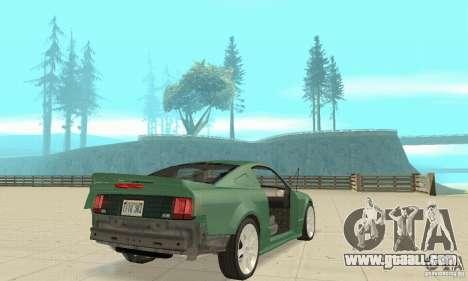 Saleen S281 v2 for GTA San Andreas bottom view