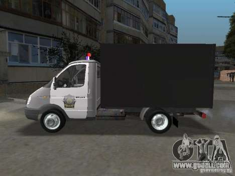 GAZ 3302 Police for GTA San Andreas left view