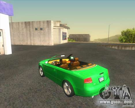 Audi A4 Convertible 2005 for GTA San Andreas back left view