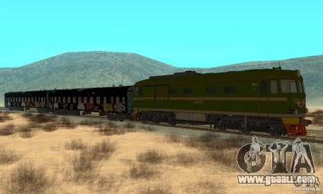 Custom Graffiti Train 1 for GTA San Andreas