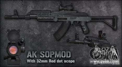 [Point Blank] AK SOPMOD for GTA San Andreas