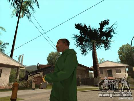 M4 from Call of Duty for GTA San Andreas third screenshot