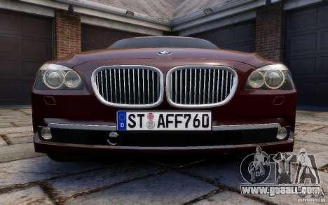 BMW 760Li 2011 for GTA 4 upper view