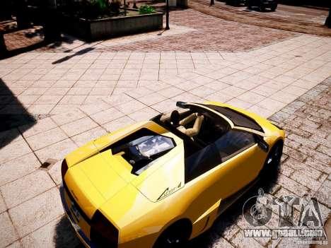 Lamborghini Murcielago LP650-4 Roadster for GTA 4 right view