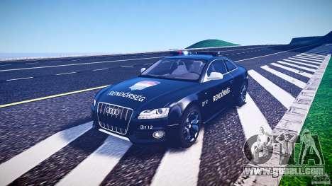 Audi S5 Hungarian Police Car black body for GTA 4 inner view