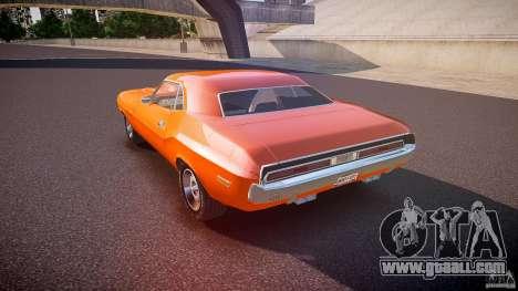 Dodge Challenger v1.0 1970 for GTA 4 back left view
