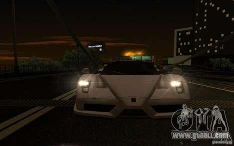 Ferrari Enzo ImVehFt for GTA San Andreas inner view