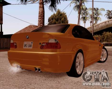 BMW M3 E46 stock for GTA San Andreas side view
