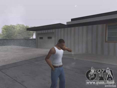 The ability to smoke for GTA San Andreas