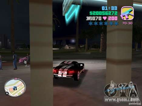 Dodge Viper Hennessy 800 for GTA Vice City right view