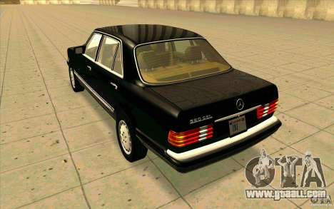 Mercedes Benz 560SEL w126 1990 v1.0 for GTA San Andreas back left view