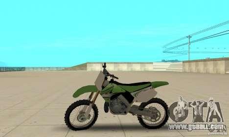 Kawasaki KX250 for GTA San Andreas