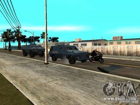 S.W.A.T. and FBI Truck ride through the streets  for GTA San Andreas