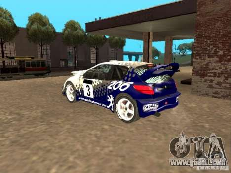 Peugeot 206 WRC from Richard Burns Rally for GTA San Andreas upper view