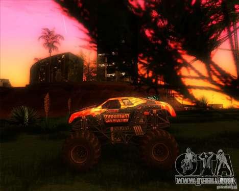 Monster Truck Maximum Destruction for GTA San Andreas left view