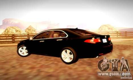 Acura TSX V6 for GTA San Andreas inner view