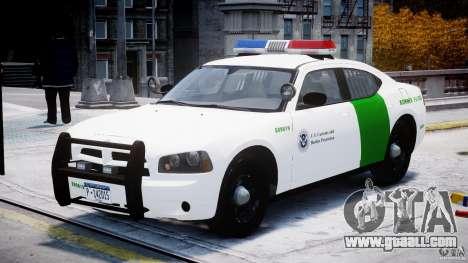 Dodge Charger US Border Patrol CHGR-V2.1M [ELS] for GTA 4 back view